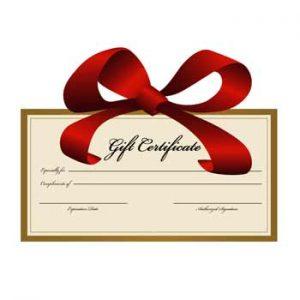 Vittorio's Gift Certificate